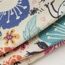 Dobby woven fabric cotton personalize photo print