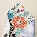 Print Bamboo fabric fold