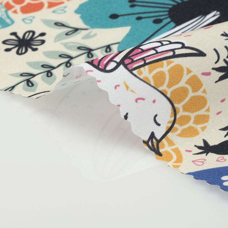 custom printed Bamboo fabric