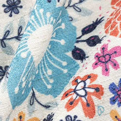 Linneblandad textil