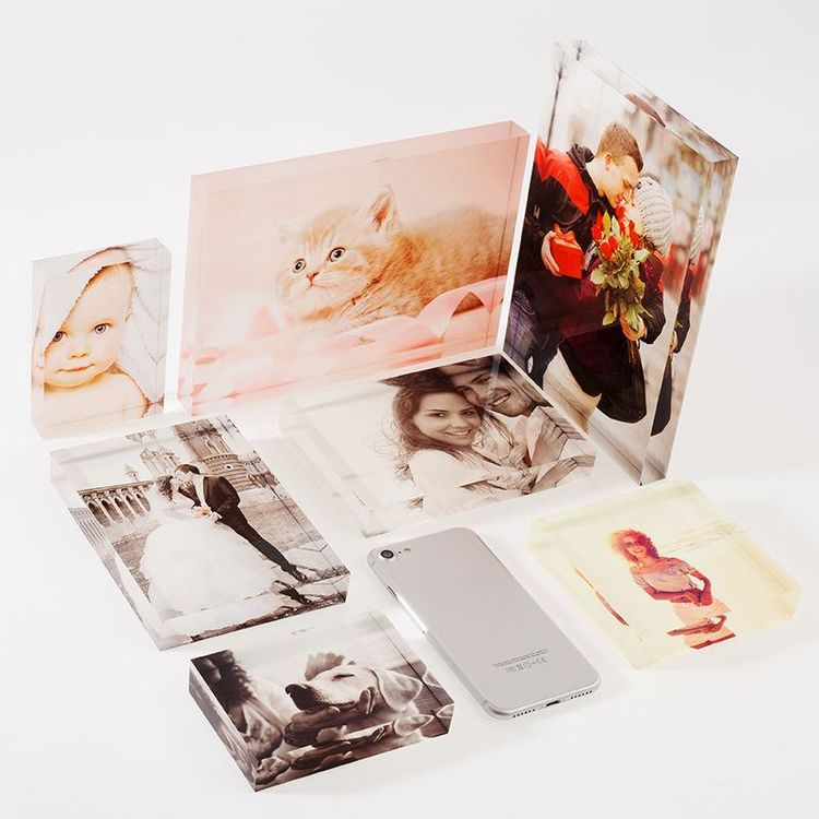 custom acrylic photo block