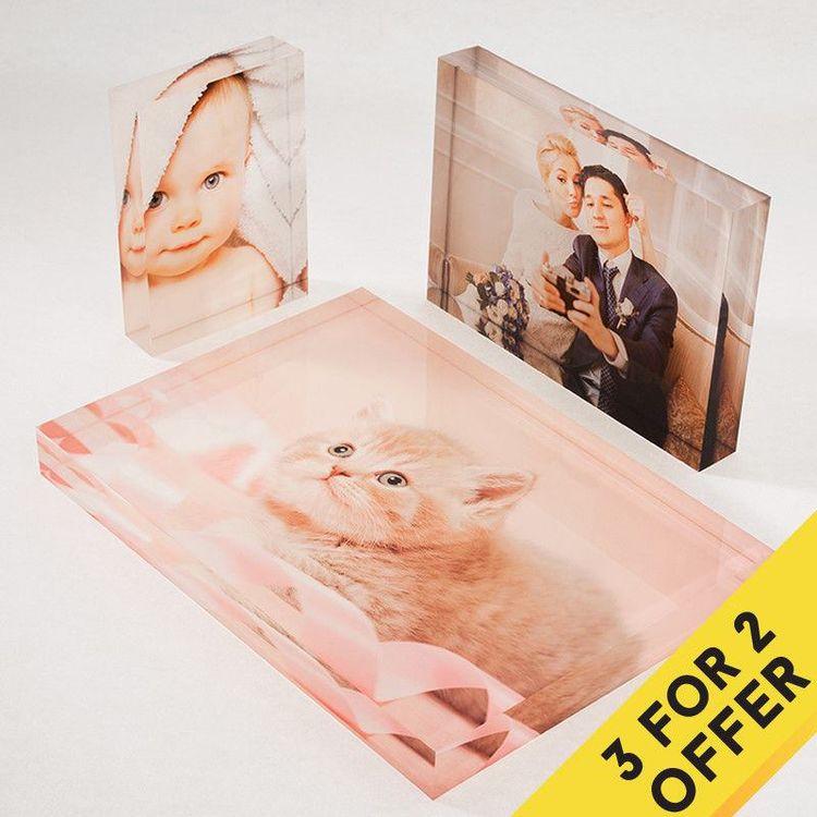 Fotoblock i akryl köp 2 få 1 gratis