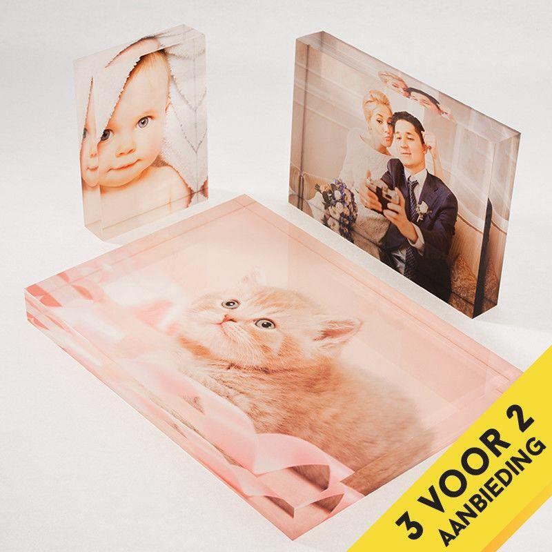 gepersonaliseerde acryl fotoblokken aanbieding