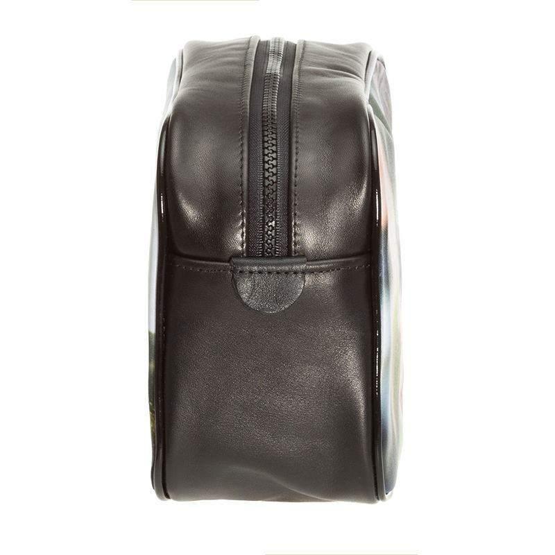 ... Personalised Photo Toiletry Bag men s photo wash bag men s wash bag  black leather wash bag for men detail 9da8641931971