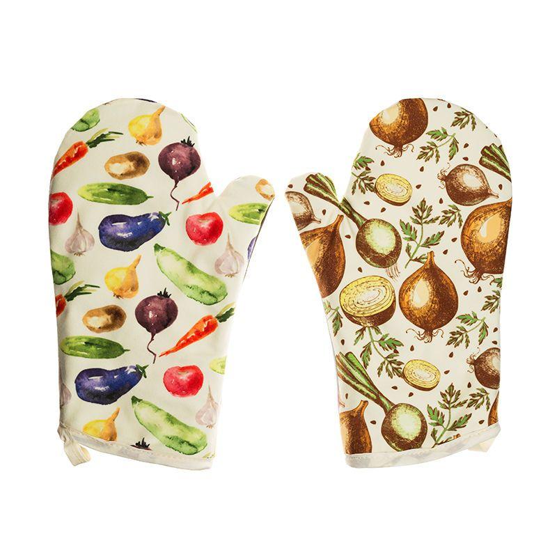 guanti da forno stampati con i tuoi disegni