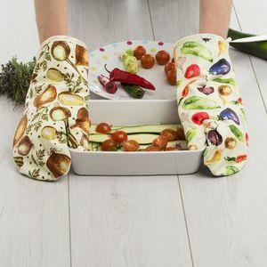 guantes de cocina con foto