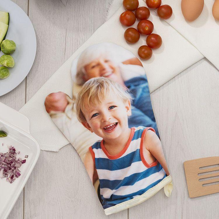 Gant de cuisine personnalisé avec photo