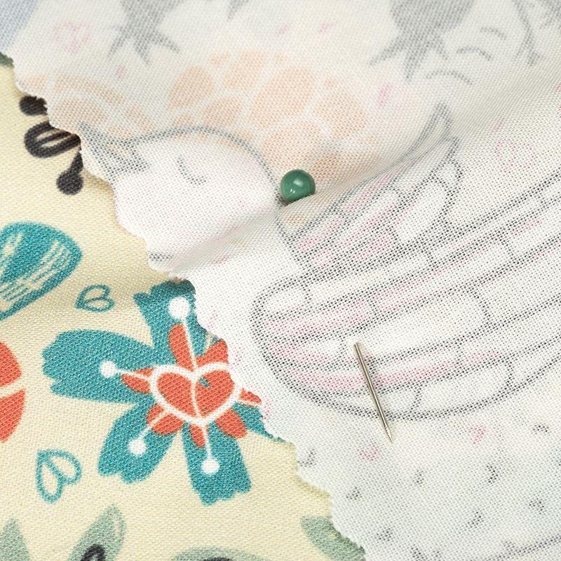Tissu popeline de coton bio détail