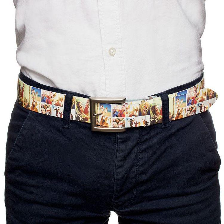 cinturón personalizado con fotos de cuero