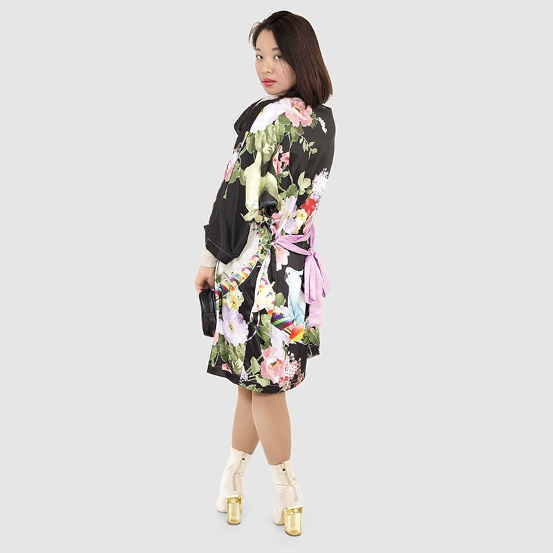 Designer kimono velvet design