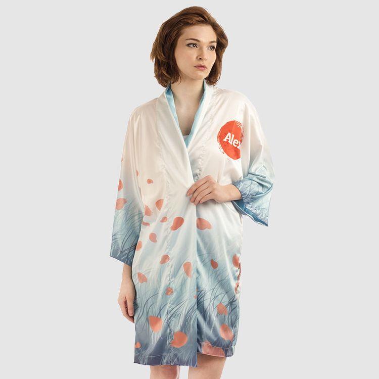 Personalised Silk Kimono printed