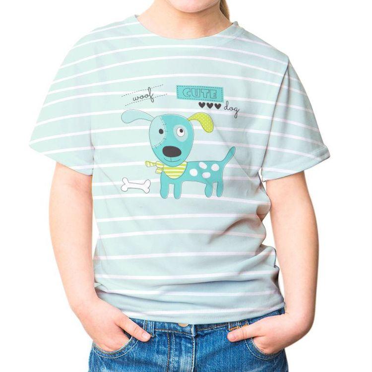 Dog tshirt cartoon stripe