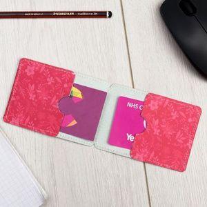 funda de piel para tarjetas