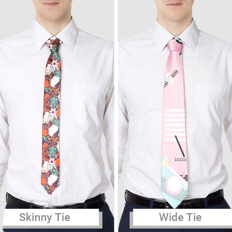 Bred eller smal personlig slips