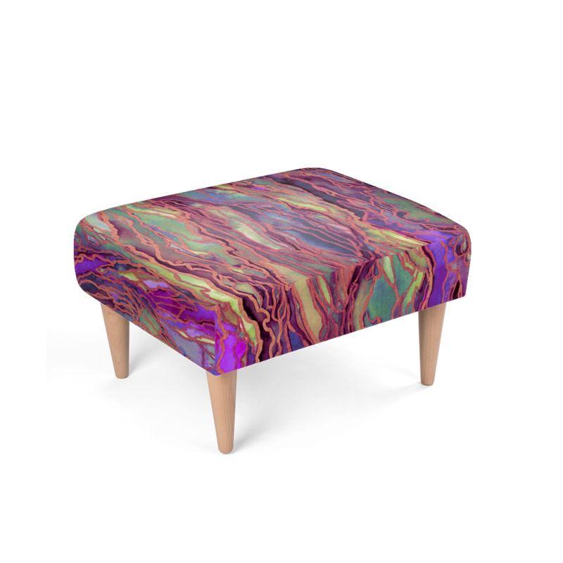 Repose-pied design violet