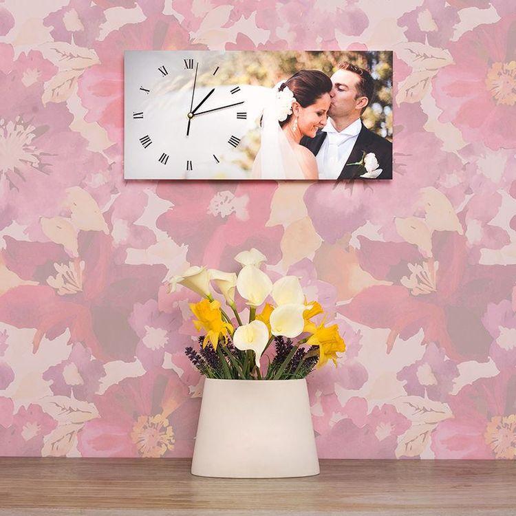 stampa orologio da parete sposi matrimonio