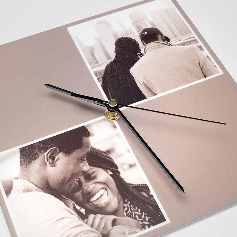 Orologio da parete personalizzato con foto rettangolari o for Foto orologio da parete