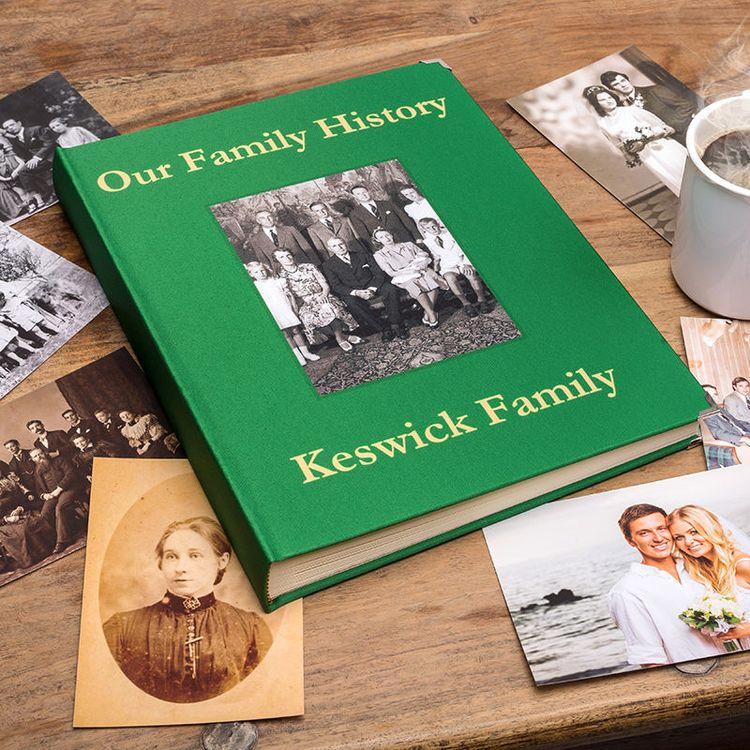 kwaliteitsalbum met familiefoto's
