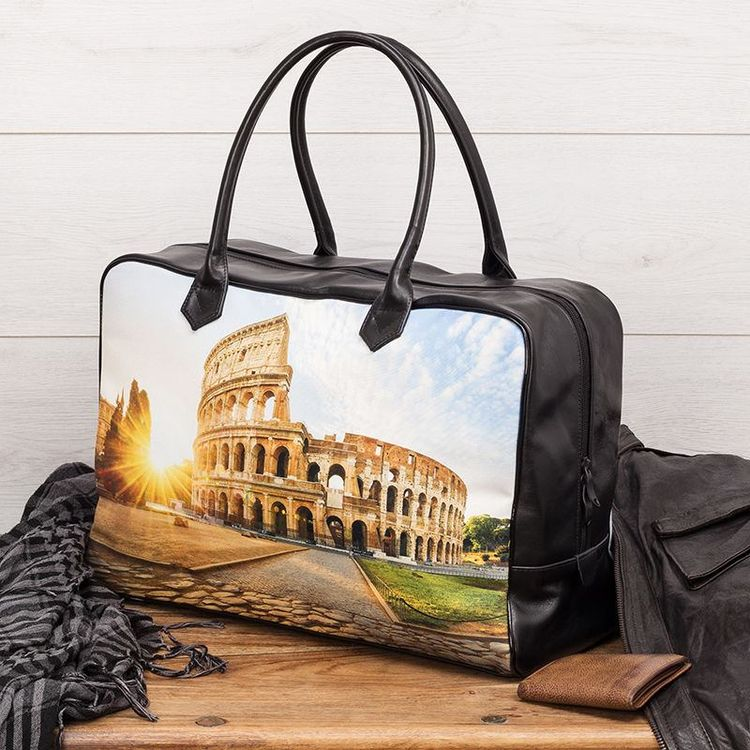 borse viaggio personalizzate foto colosseo