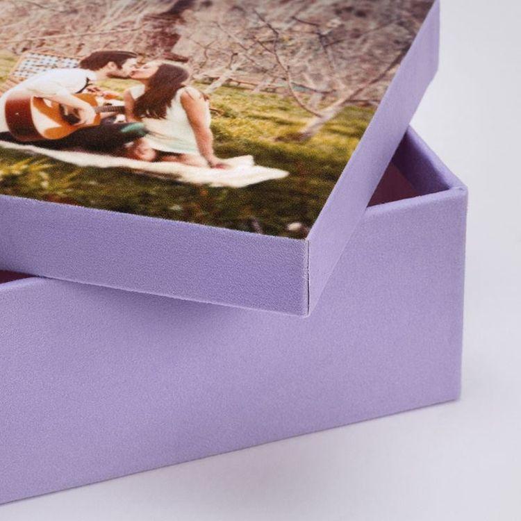 foto doos close up van stof