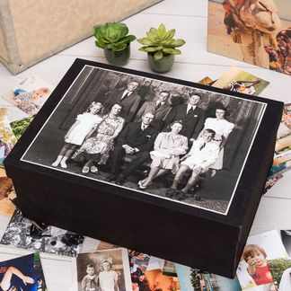 fotobox für oma und ope zu weihnachten mit altem familienfoto