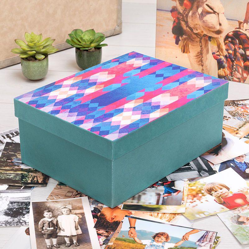 Boîte de rangement personnalisée en couleur