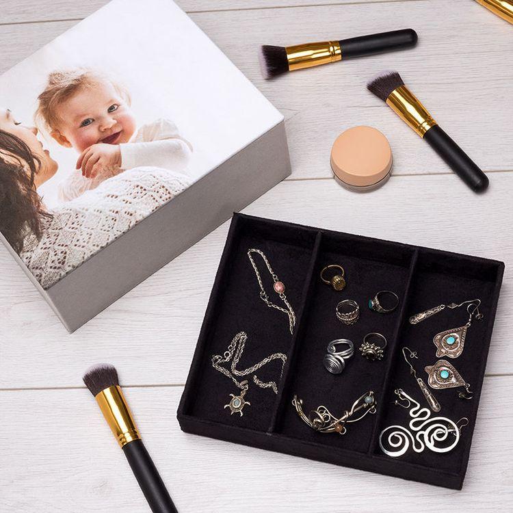 Boîte à bijoux photo de maman