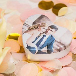 scatolina a forma di cuore personalizzata con foto