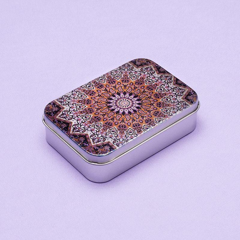 bohemian style silver tin box