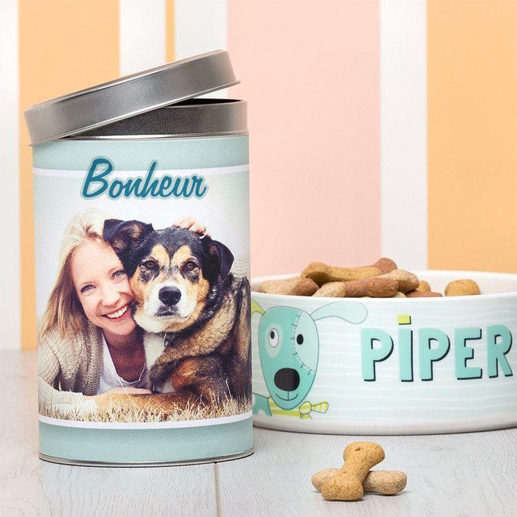 Boîte personnalisée avec photo chien