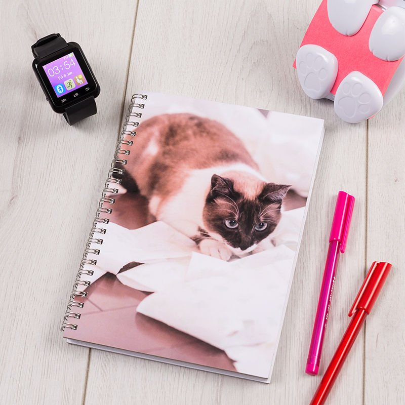 impression photo sur cahier chat