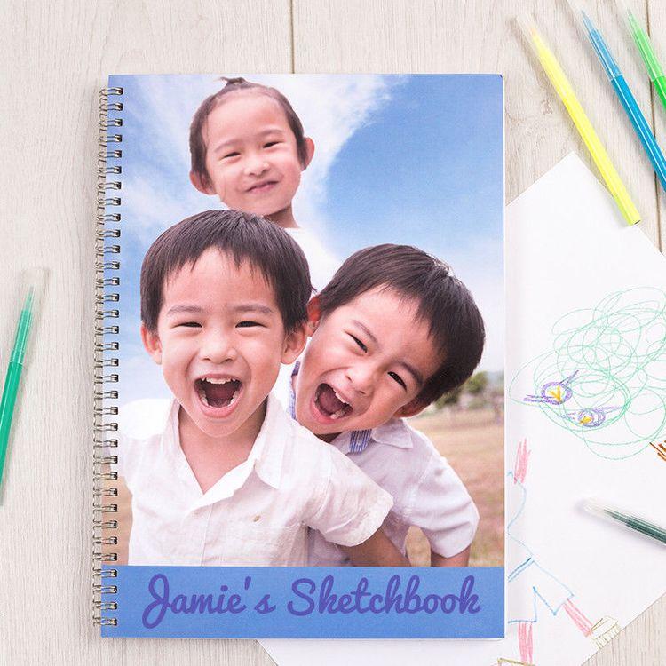 customised sketchbook