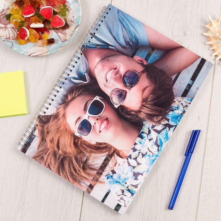 Cahier couverture personnalisable couple