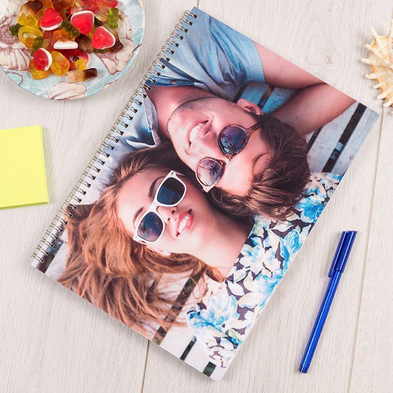 Impression sur cahier avec photo