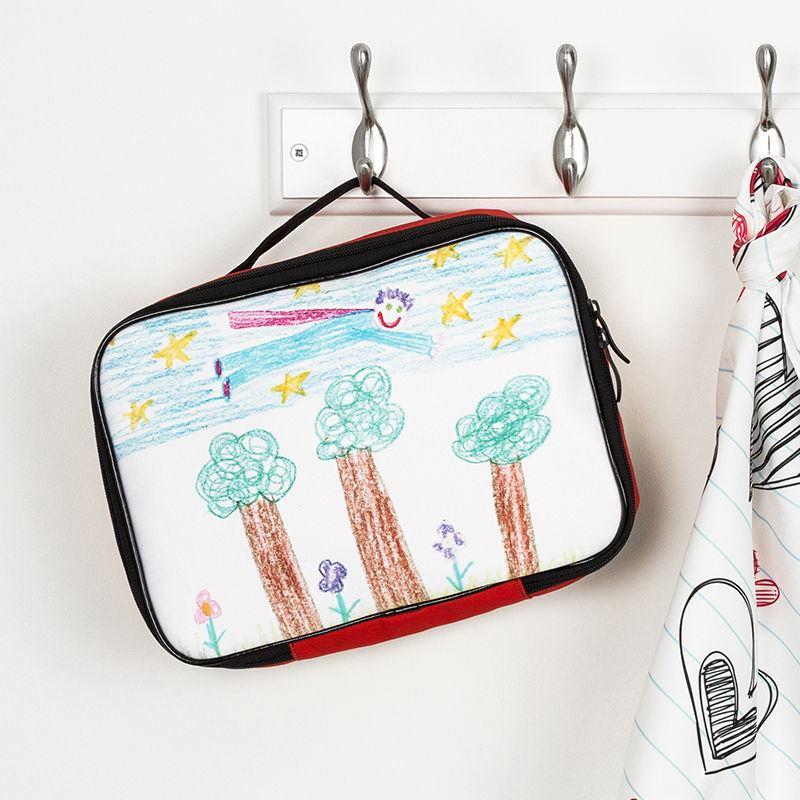 Designer Canvas Summer Beach Backpack Floral Blue Handbag Bag Purse Medium CHOP