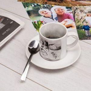 Juego de tazas de café con fotos
