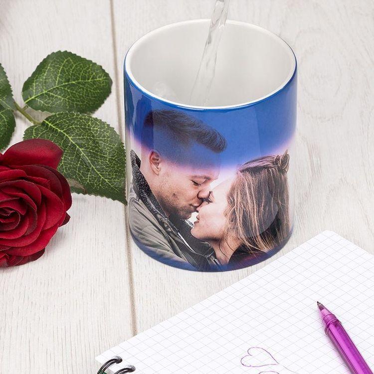 personalised heat photo mug
