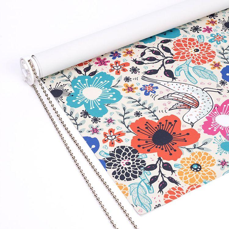 Tissu pour store à fleurs