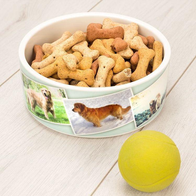 Hundmatsskål med eget tryck