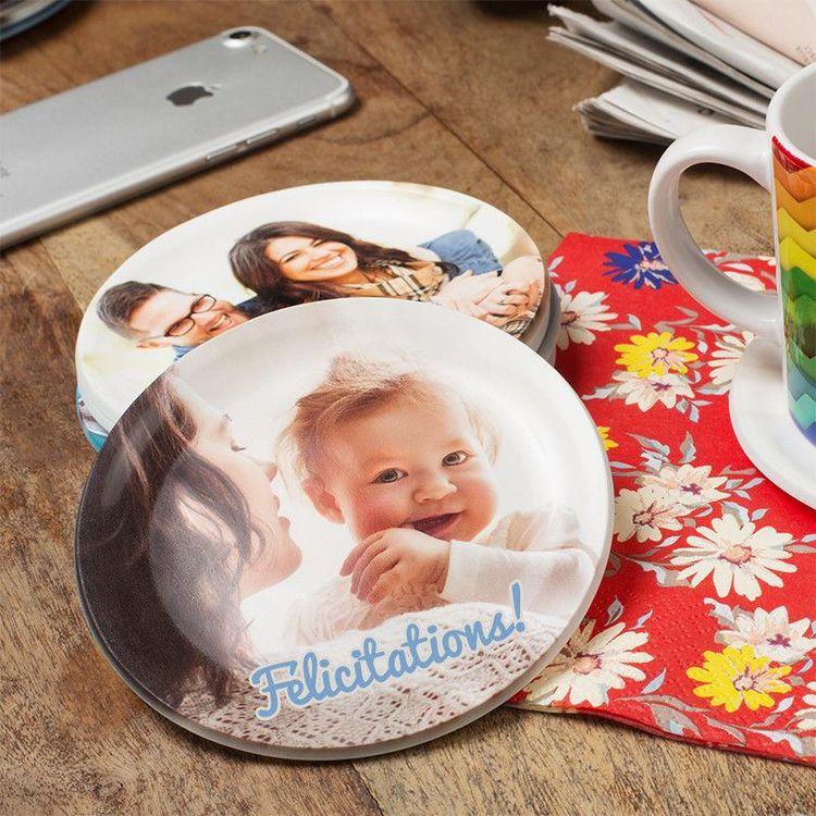 Soucoupe personnalisée avec photo bébé