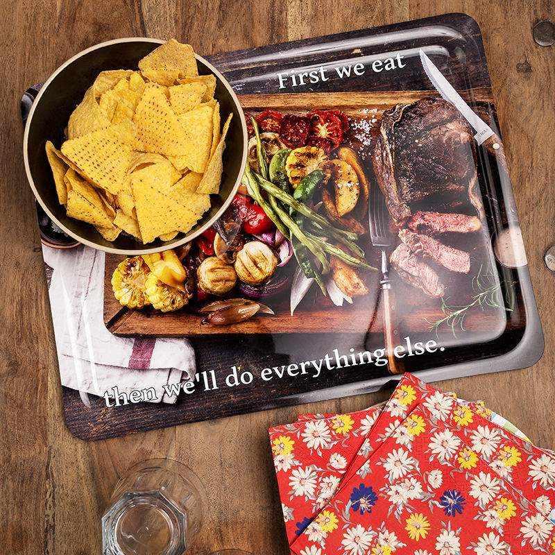 personalized photo serving tray custom photo tray