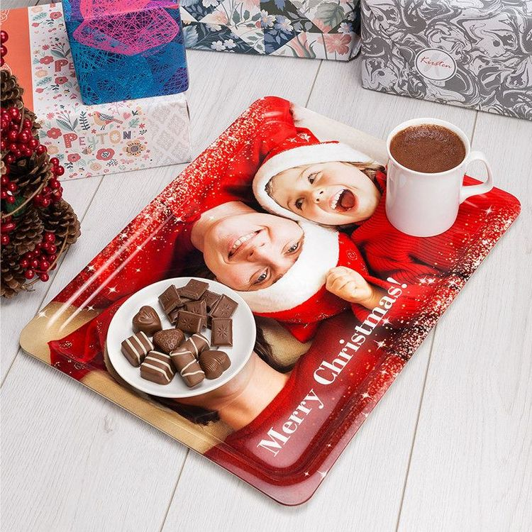 Personlig fotobricka julklapp