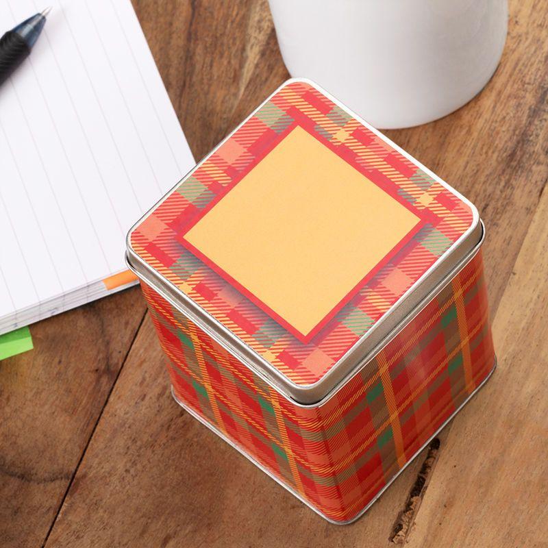 タータンデザイン お茶缶