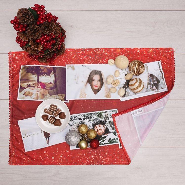 Christmas Family photo montage Tea towel