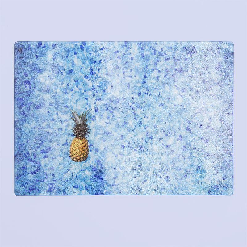 pineapple print glass kitchen worktops