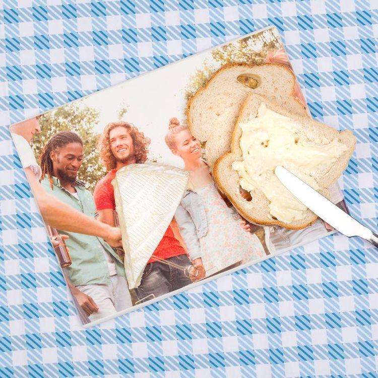 Planche à découper personnalisée avec photo de famille