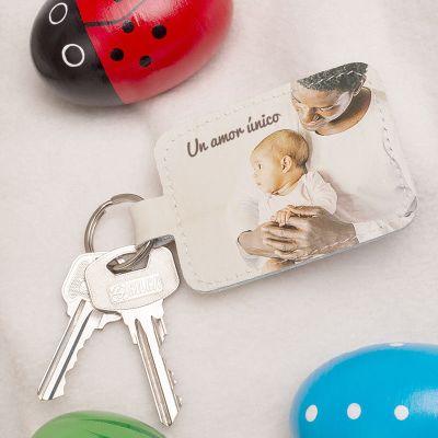 llaveros de piel personalizados con fotos de bebés