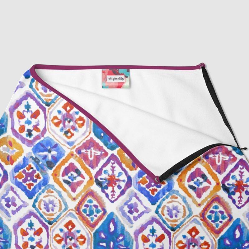 Impression sur jupe trapèze et étiquette