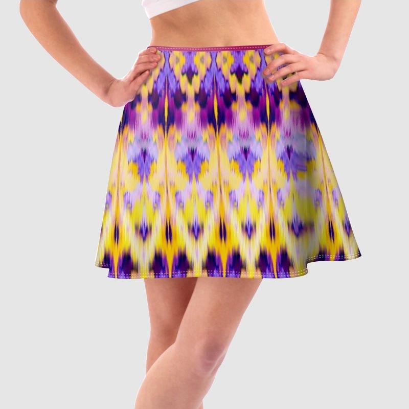 Impression sur jupe trapèze
