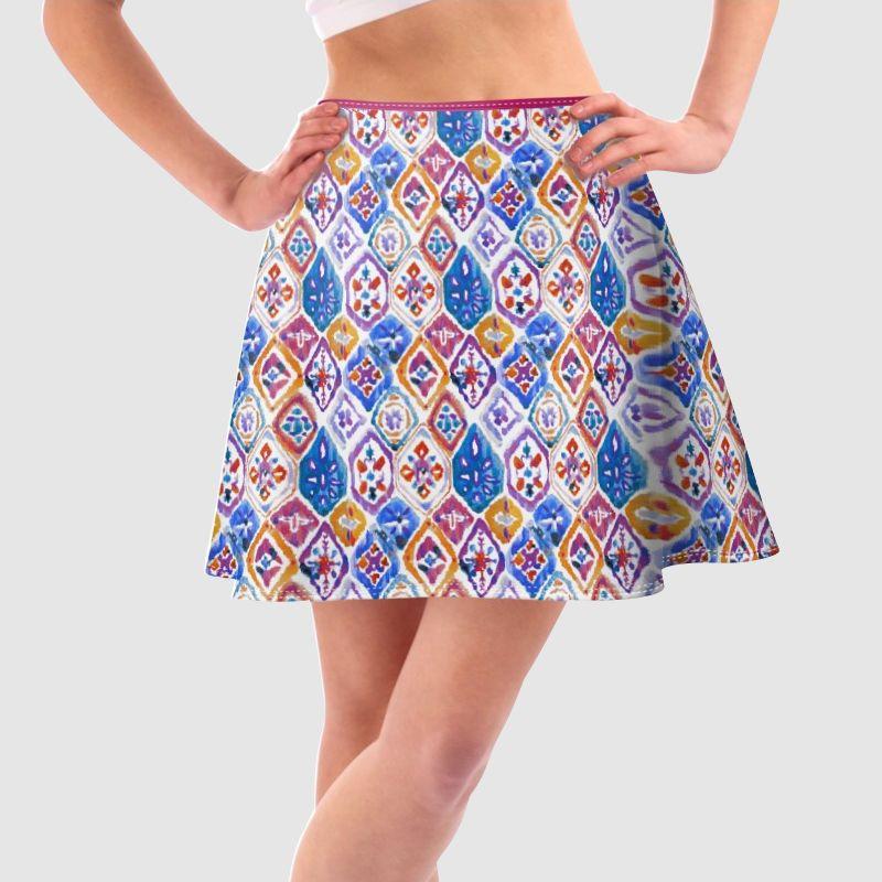 Warm thermal skirt printed pattern